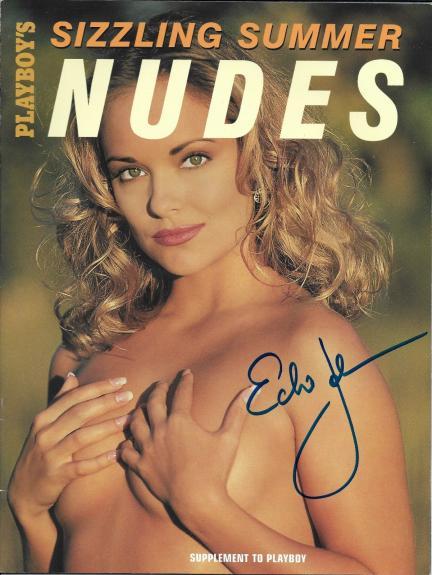 Echo Johnson Signed Playboy Sizzling Summer Nudes Magazine PSA/DNA COA Autograph