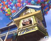 "Ed Asner Autographed 8"" x 10"" Up Carl Floating Away With House Photograph - Beckett COA"