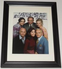 Ed Asner Autographed 8x10 Color Photo (framed & Matted) - Mary Tyler Moore Show!