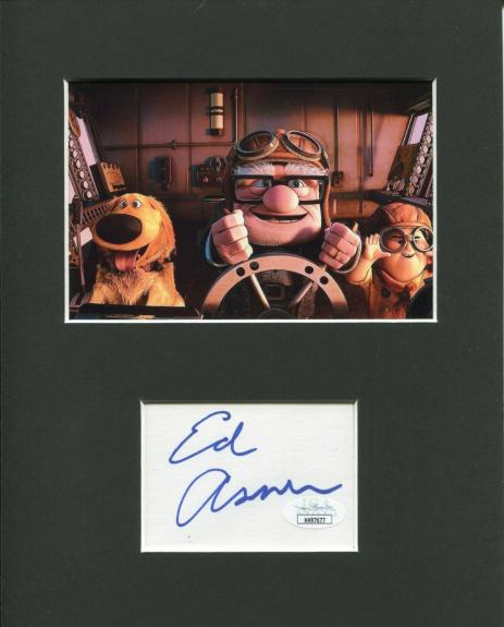 Ed Asner Disney Pixar UP Carl Fredricksen Signed Autograph Photo Display JSA