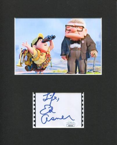 Ed Asner Disney Pixar Voice UP Carl Fredricksen Signed Autograph Photo Display