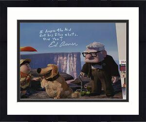 Ed Asner Disney signed Up 11x14 photo autographed Carl Fredricksen 3 JSA