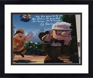 Ed Asner Disney signed Up 11x14 photo autographed Carl Fredricksen JSA