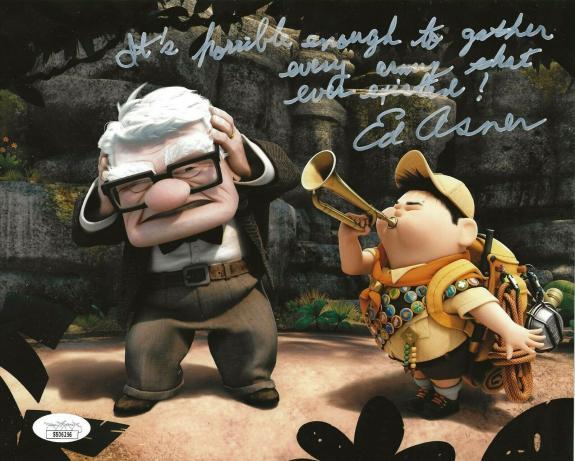 Ed Asner Disney signed Up 8x10 photo autographed Carl Fredricksen 3 JSA