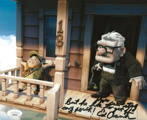 Ed Asner Disney signed Up 8x10 photo autographed Carl Fredricksen 4 JSA