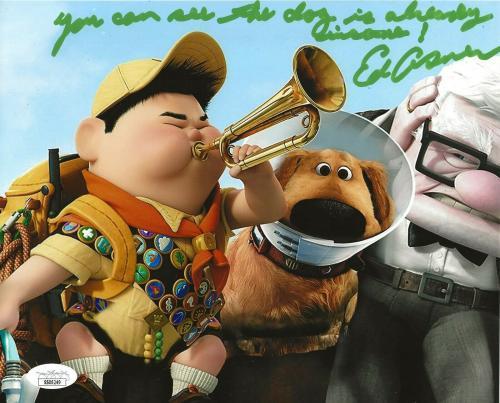 Ed Asner Disney signed Up 8x10 photo autographed Carl Fredricksen 7 JSA
