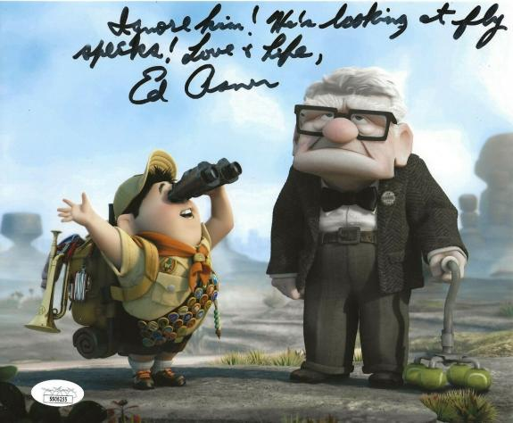 Ed Asner Disney signed Up 8x10 photo autographed Carl Fredricksen 8 JSA