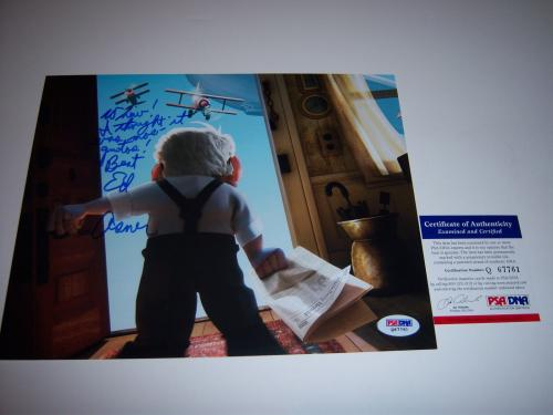 Ed Asner Famous Actor,up The Movie Psa/dna Signed 8x10 Photo