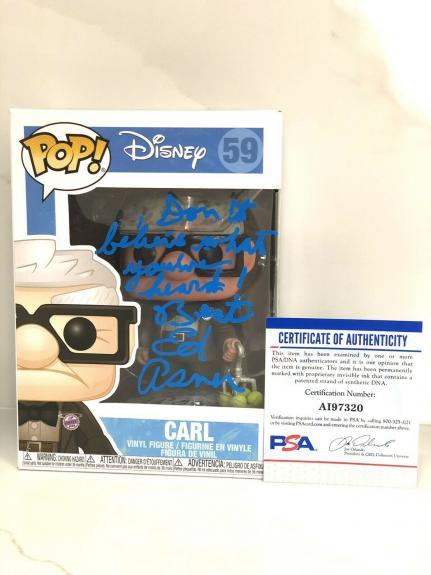 ED ASNER Hand Signed Funko Pop UP Disney PSA DNA CERT #2