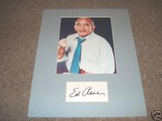 Ed Asner Mary Tyler Moore Signed 11x14  Photo Display