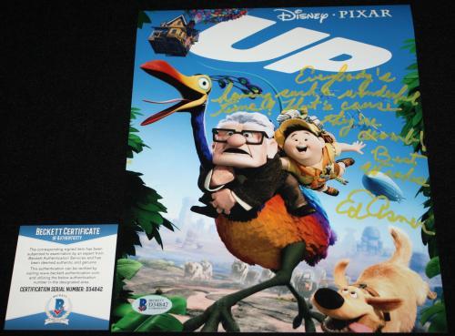 Ed Asner signed 8 x 10, Mary Tyler Moore, Disney, UP, Beckett BAS