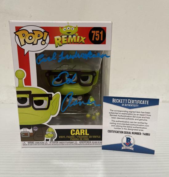 Ed Asner Signed Autographed Carl Alien Up Funko Pop Disney Pixar Beckett COA 4