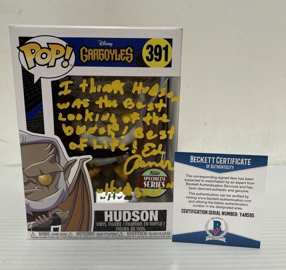 Ed Asner Signed Autographed Hudson Gargoyles Funko Pop Disney Beckett COA 1