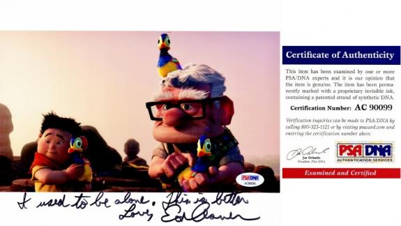 Ed Asner Signed - Autographed UP 8x10 inch Photo with and LONG Inscription - PSA/DNA Certificate of Authenticity (COA)