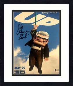 "ED ASNER Signed ""CARL"" DISNEY'S ""UP"" 8x10 PHOTO BAS BECKETT COA AUTOGRAPH C"