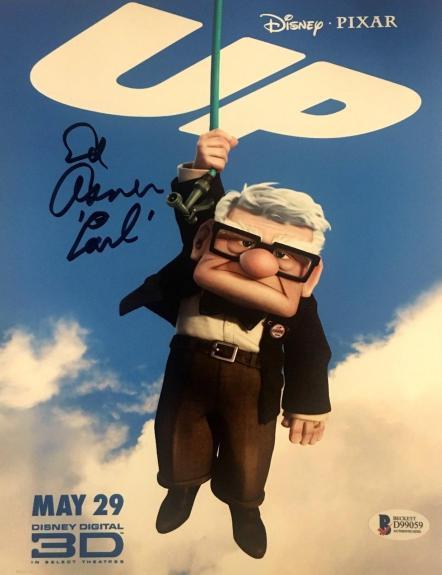 "ED ASNER Signed ""CARL"" DISNEY'S ""UP"" 8x10 PHOTO BAS BECKETT COA AUTOGRAPH C"