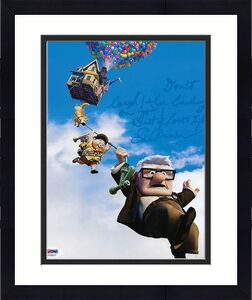 Ed Asner Signed Disney's Up 8x10 Photo Wit Movie Quote PSA AC59321