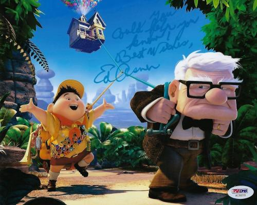 """Ed Asner Signed Disney's 'Up' 8x10 Photo """"You Could Help You Know"""" PSA AC59319"""