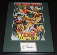 Ed Asner Signed Framed 16x20 Photo Poster Display The Wrestler