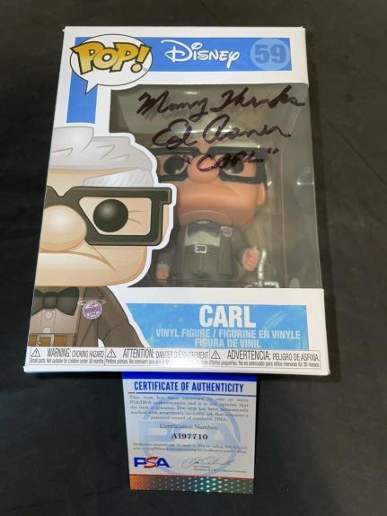 Ed Asner Signed Official Carl Funko Pop Figure Disney Up PSA/DNA #3