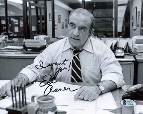 """Ed Asner The Mary Tyler Moore Show """"I Want You!"""" Signed 8x10 Photo BAS #D71741"""