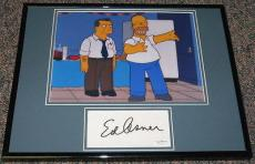 Ed Asner The Simpsons Signed Framed 11x14 Photo Display JSA