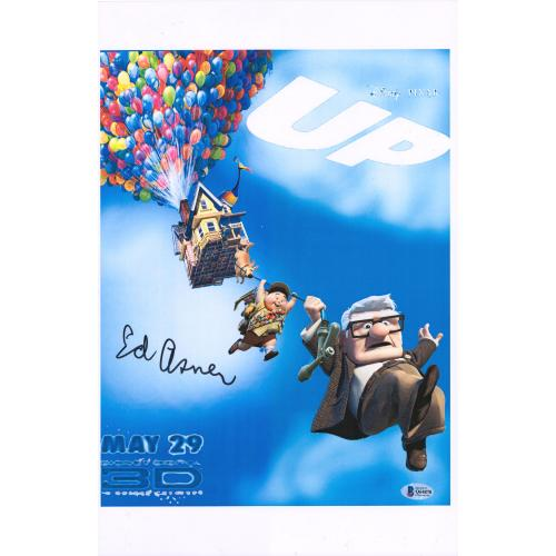 """Ed Asner Up Autographed 12"""" x 18"""" Movie Poster - BAS"""