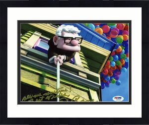 Ed Asner Up Signed 8X10 Photo Slightly Smudged PSA/DNA #Z56558