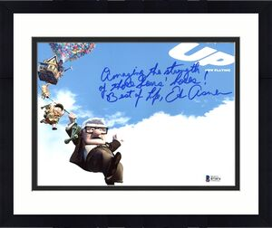 Ed Asner UP w/ Inscription Signed 8X10 Photo Autographed BAS #B71874