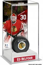 Ed Belfour Chicago Blackhawks Deluxe Tall Hockey Puck Case
