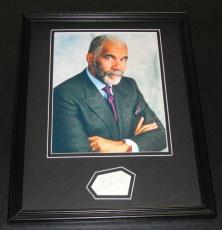 Signed Ed Bradley Photo - Framed 11x14 Display 60 Minutes