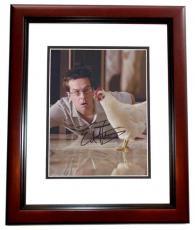 Autographed Ed Helms THE HANGOVER 8x10 Photo MAHOGANY CUSTOM FRAME