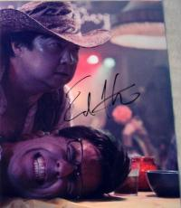 """Ed Helms Signed Autograph New """"hangover Part 3"""" Funny Chow Bar Fight 8x10 Photo"""