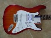 Ed King & Artimus Pyle Lynyrd Skynyrd Signed Guitar W/ Lyrics PSA Certified