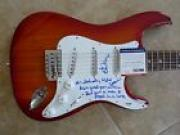 Ed King Lynyrd Skynyrd Signed Guitar Saturday Night Special Lyrics PSA Certified