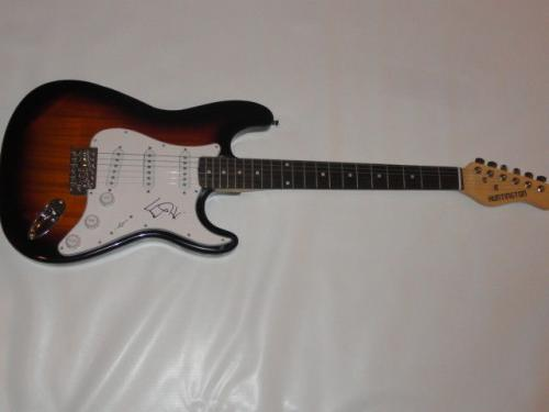 Ed Kowalczyk Signed Sunburst Electric Guitar Live The Band Legend Proof Jsa Coa