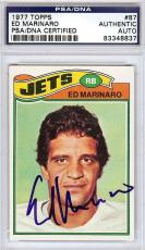 Ed Marinaro Autographed Signed 1977 Topps Card #87 New York Jets PSA/DNA