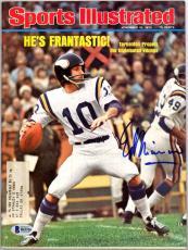 Ed Marinaro Autographed Signed Sports Illustrated Magazine Vikings Beckett BAS