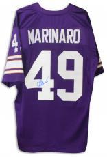 Ed Marinaro Minnesota Vikings Autographed Purple Jersey Autographed