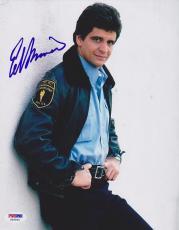 Ed Marinaro Autographed Picture - 8x10 Joe Coffey Hill Street Blues PSA DNA