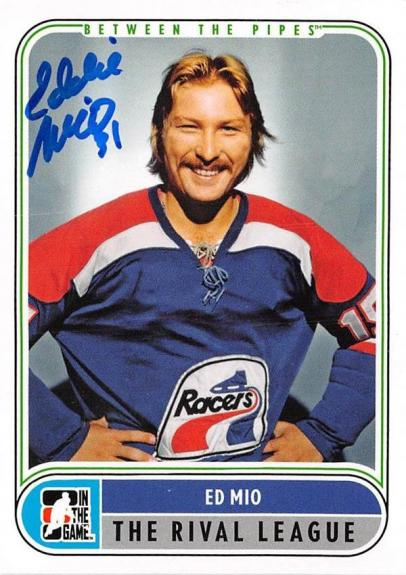 Ed Mio autographed Hockey Card (Edmonton Oilers) 2008 In The Game #100