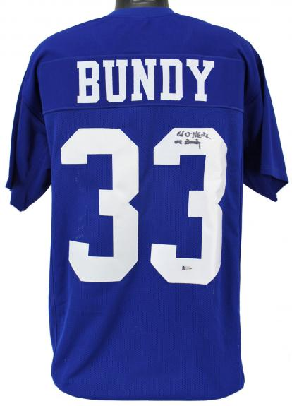 """Ed O'Neill Married With Children """"Al Bundy"""" Signed Blue Jersey BAS"""