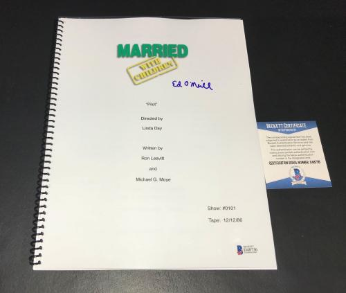 Ed O'neill Signed Auto Full Married With Children Pilot Script  Bas Coa 2