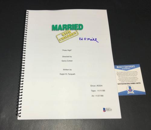 Ed O'neill Signed Auto Full Married With Children Poke High Script  Bas Coa
