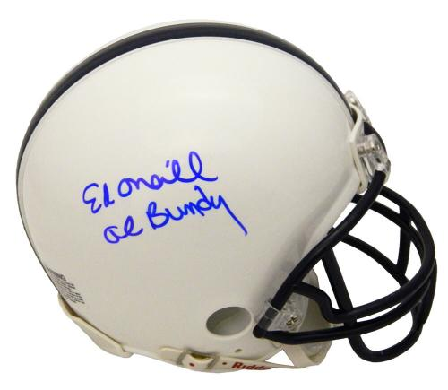 Ed O'Neill Signed Polk High School White Riddell Mini Helmet w/Al Bundy