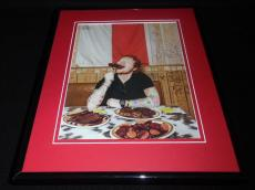 Ed Sheeran 2015 Eating BBQ in Dallas Texas Framed 11x14 Photo Display