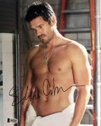Eddie Cibrian (Shirtless In Towel) Signed 8x10 Photo Beckett BAS