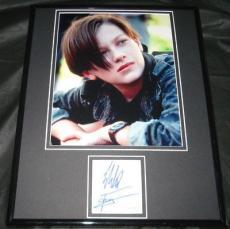 Edward Eddie Furlong Signed Framed 11x14 Photo Display JSA Terminator 2 T2