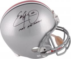 "Eddie George Ohio State Autographed Riddell Replica Helmet with ""95 Heisman"" Inscription"