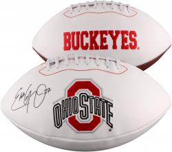 Eddie George Ohio State Buckeyes Autographed White Panel Football